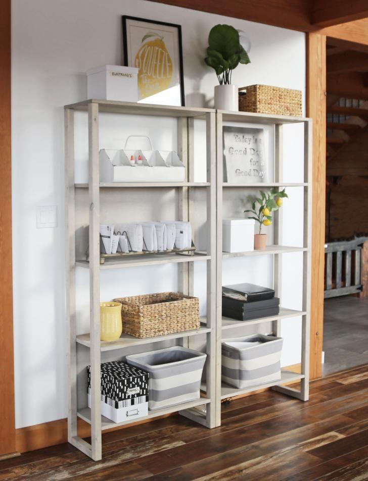 15++ White farmhouse bookshelf most popular