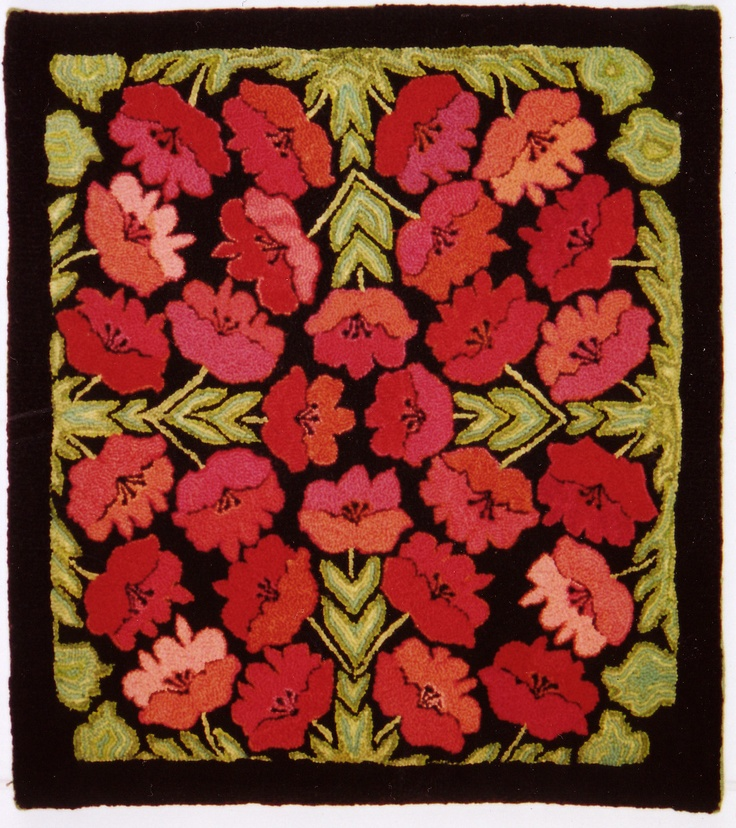 239 Best Hooked Rugs Floral Images On Pinterest Punch