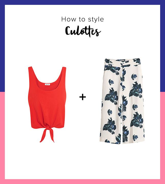Get culotte summer styling tips from this outfit pairing suggestion.