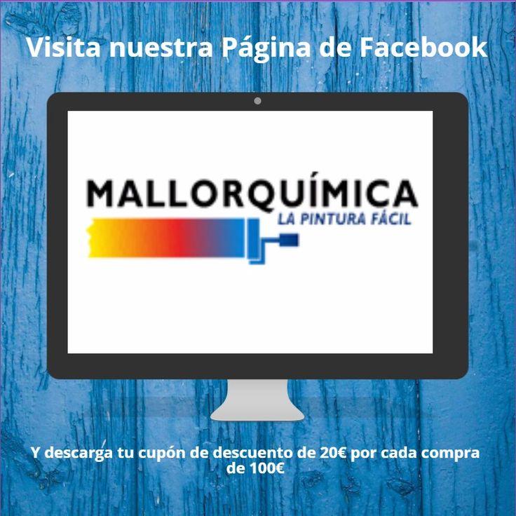 Síguenos en Facebook Mallorquímica La Pintura Fácil y descarga tu cupón de descuento  para canjearlo en nuestra tienda de Palma de Mallorca, España ¡Te Esperamos!