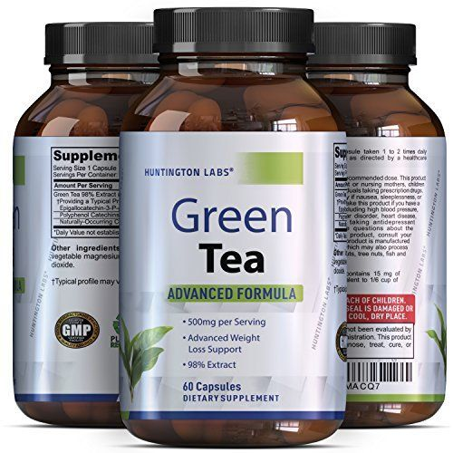 Green Tea Extract Capsules - Pure Extract - Weigh Loss Pills - Burn Belly Fat - Metabolism Booster - Lose Weight Fast - For Men & For Women - Safe & All Natural - Detox Cleanse