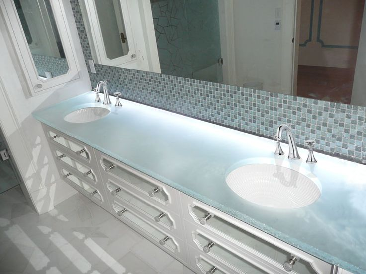 Glass Countertops For Bathrooms By CGD Glass   CGD Glass Countertops
