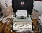 Electric Typewriter with Case, Smith-Corona Coronet Automatic Electric Typewriter with Case Type Writer, Vintage Office , Office Decor, :)S