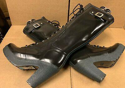 "ebay sponsored hunter black lapins 4"" heel platfm rubber"