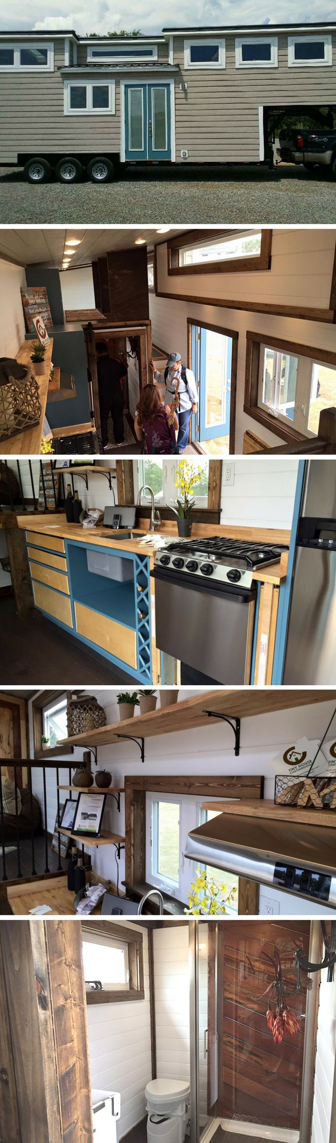 """The Lookout tiny house, by Tiny House Chattanooga. Voted """"Best in Show"""" at the 2016 Tiny House Jamboree!"""