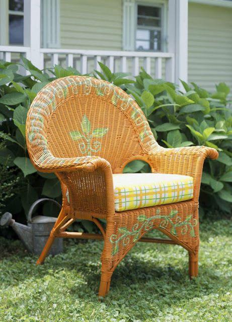 Painting wicker furniture furniture pinterest - Alkemie blogspot com ...