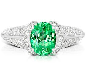 What a sparkling energy boost! Tsavorite Ring by Kat Florence