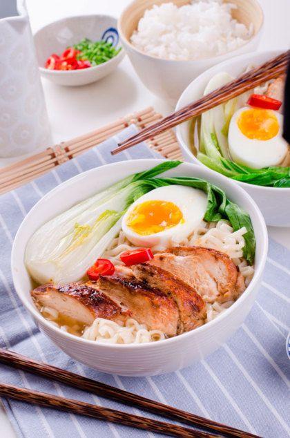 Recept voor Ramen met Oosterse kip