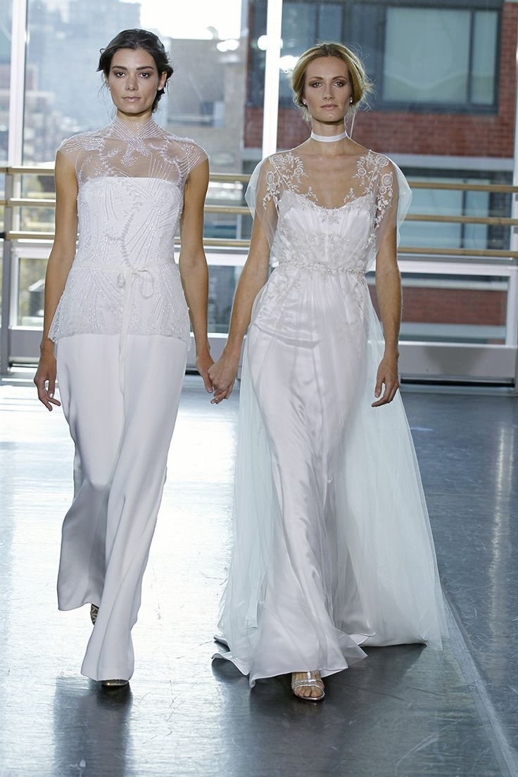 64 best Bridal pant suits images on Pinterest | Wedding gowns ...