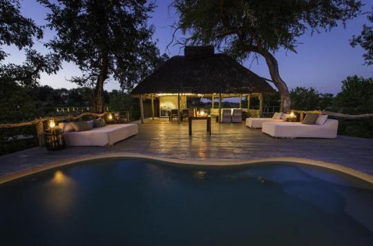 Pool area at Mombo Camp (Okavango Delta, Botswana). Any questions: info@gondwanatoursandsafaris.com - we reply within 24h!