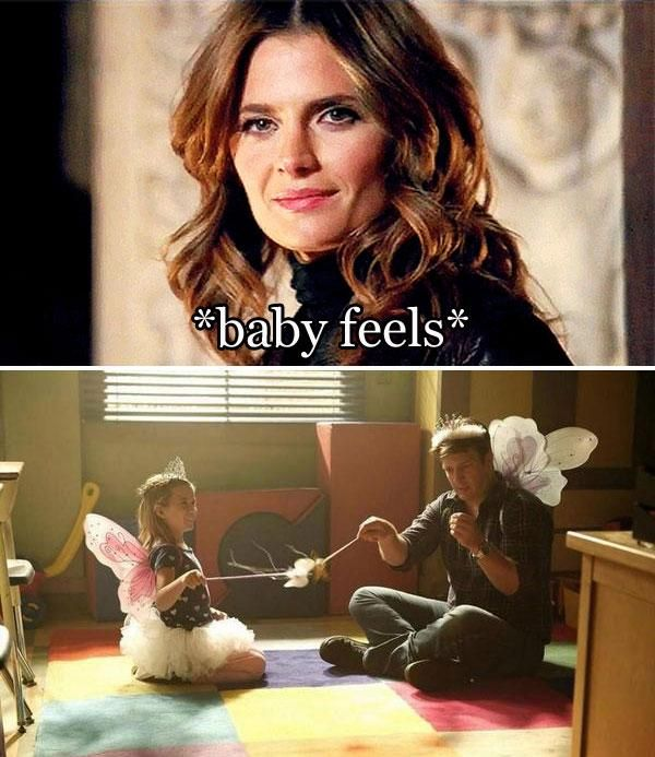 Castle Season 7.. I loved when the little girl asked Beckett if she plays fairy princess with Castle too... I have a ton of feels bout this show