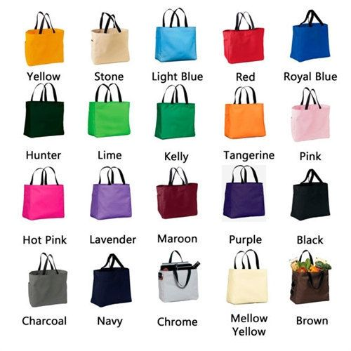 12 Personalized Bridesmaid Gift Totes by elrileyembroidery on Etsy