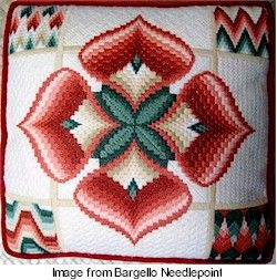 Bargello...I made this pillow years ago for my mother! So grateful to see it pinned here! Wonderful pattern. I should make another