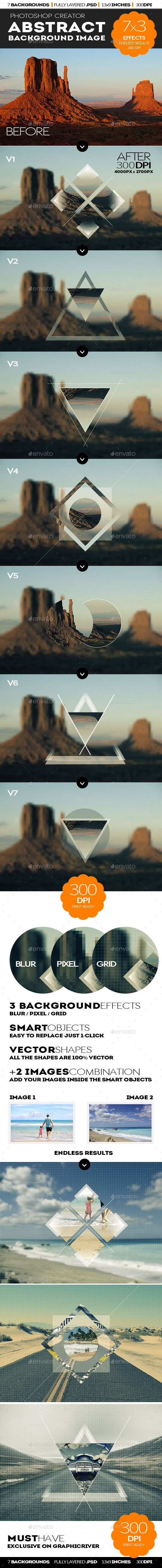 Geometric Double Exposure Photoshop Creator by psddude This set contains 1 PSD mockup file and 8 Photoshop actions for customization purposes that will allow you to create geometric photo effects. ...