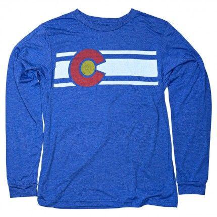 Long sleeve Colorado flag shirt