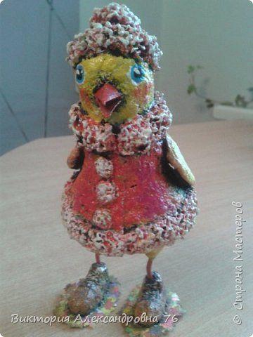 Мастер-класс Поделка изделие Праздник осени Папье-маше Канарейка Бумага Клей Краска фото 1