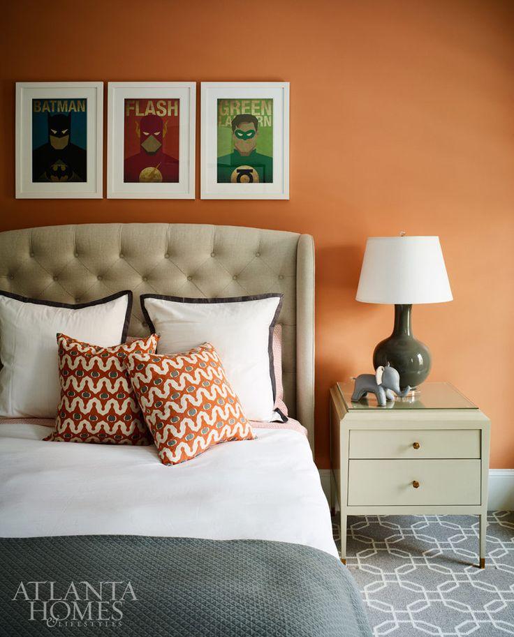 All that sparkles ahl orange accent walls orange
