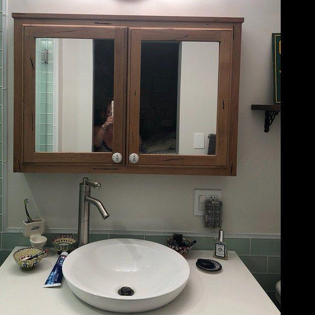 Custom Recessed Medicine Cabinet With Finished Interior Free Etsy In 2020 Recessed Medicine Cabinet Bathroom Interior Design Farmhouse Medicine Cabinets