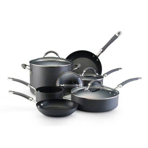 Kitchenaid hard anodized nonstick 10 piece cookware set at for Kitchenaid 6 set