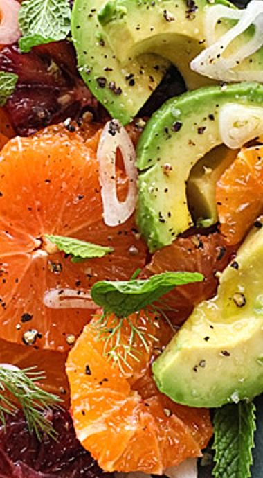 Citrus Fennel and Avocado Salad with Champagne Vinaigrette ❊