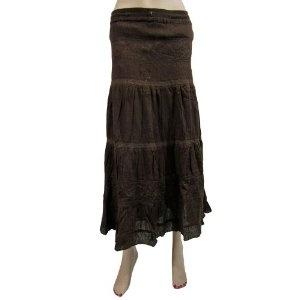 Women Hippie Boho Gypsy Skirt New Fashion Embroidered Brown Cotton Skirt (Apparel)  http://www.amazon.com/dp/B007O6DOB0/?tag=http://howtogetfaster.co.uk/jenks.php?p=B007O6DOB0  B007O6DOB0