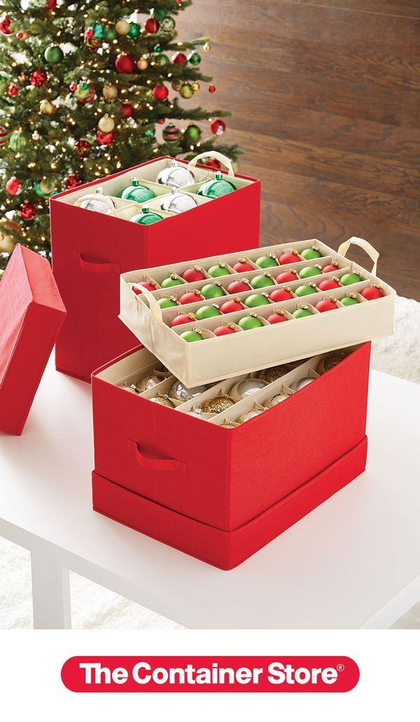 Container Store Ornament Storage Best 60 Best Organized Holiday Images On Pinterest Holiday Storage