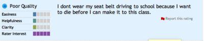 Rate My Professor.