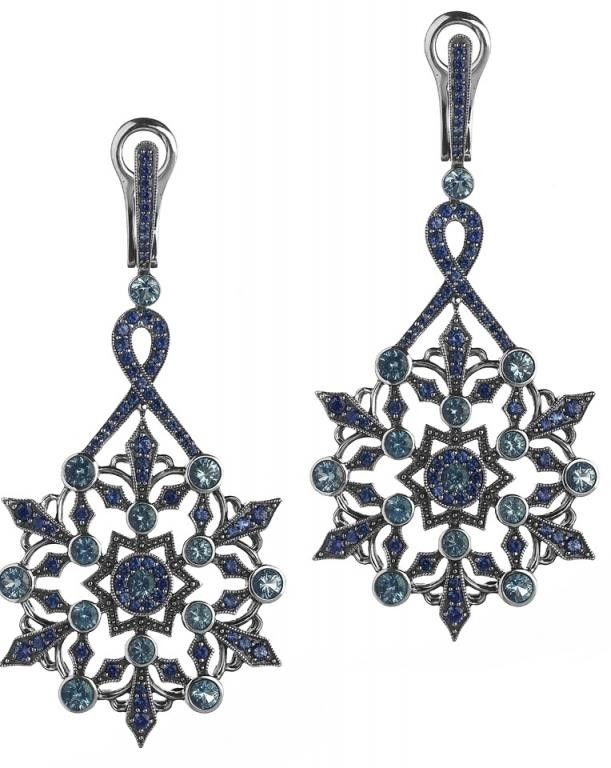 Axenoff Jewellery » Earrings «Snowflakes»