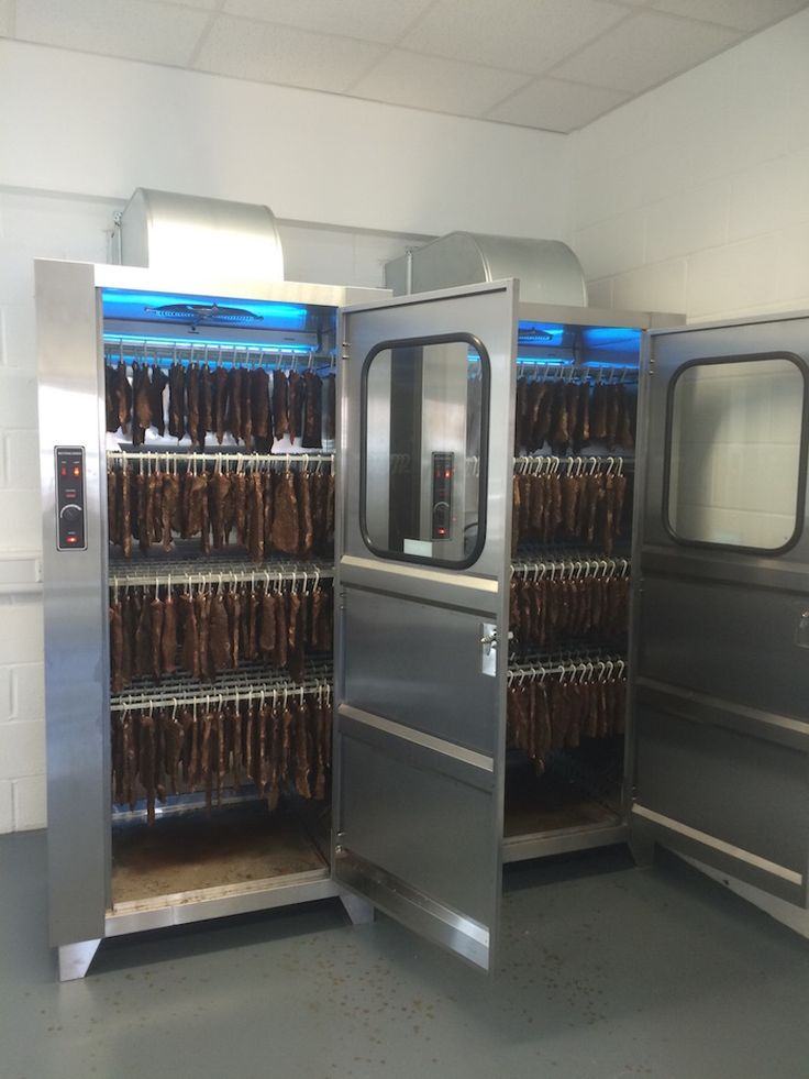 The IDC-120 Biltong Drying Cabinet full of product - 100kg wet meat will be ready in 3 days.