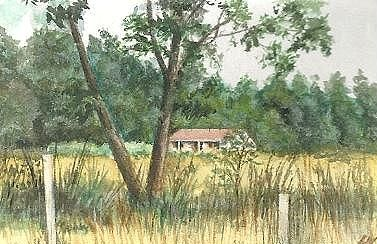 A local spot of Deloraine. Tasmania, I lived there for some years, therefore I did a lot of painting there. The miniature portraits became harder to do as got older..