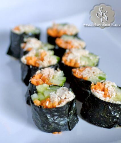 No Carb Sushi Rolls - The Super Sisters   GoSuperSisters.com