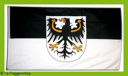 OSTPREUßEN Hissflagge OSTPREUßISCHE Fahnen Flaggen 90x150cm / DAS GESAMTE GEBIEBT von OSTPREUSSEN mit DANZIG und dem MEMELLAND bzw. MEMELGEBIET könnte man auch ganz einfach PREUSSEN (Preußen) nennen.