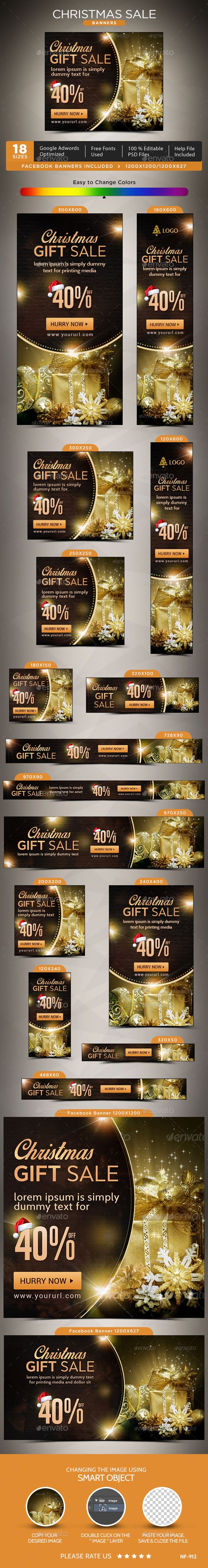 Christmas Web Banners Templates PSD #design #ads Download: http://graphicriver.net/item/christmas-banners/14032725?ref=ksioks