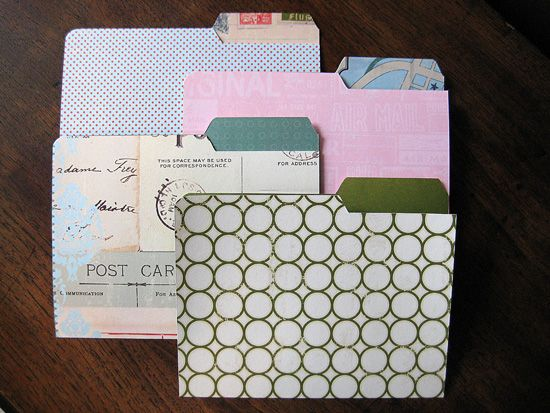 Printable mini file folders and labels.