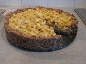 Vlašskoořechový koláč s jablky | Živá strava, raw food, raakaruoka
