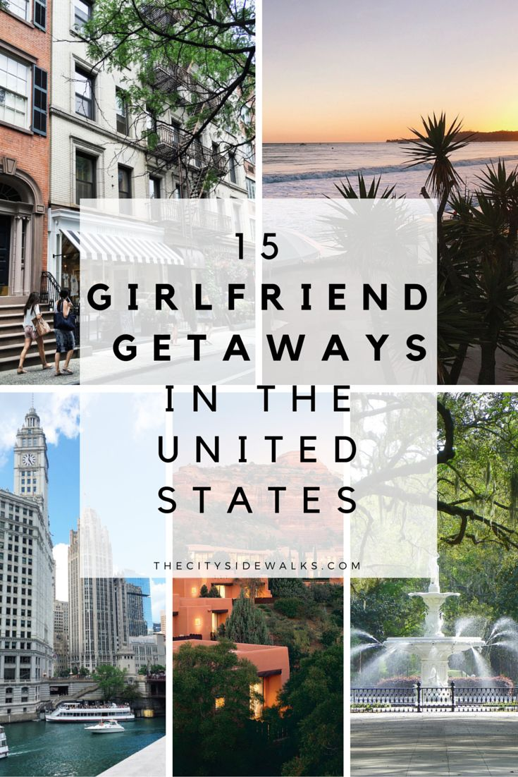 City living, beach bumming, cocktail sipping, spa pampering... What's better than a fun weekend vacation with your girlfriends?! If you're looking for ideas of where you should pack up and get away with your girlfriends for the weekend, I've got you covered! Here are 15 Girlfriend Getaways in the United States so you and the crew and escape and enjoy!