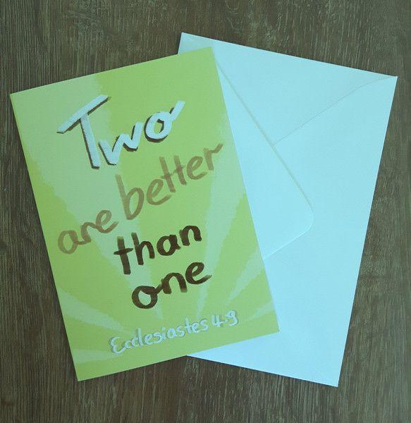 """Hochzeit - """"2 are better than 1""""-Klappkarte mit Briefumschlag - ein…"""