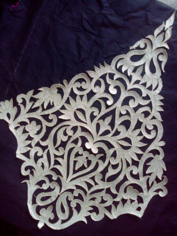 My embroidery cutwork