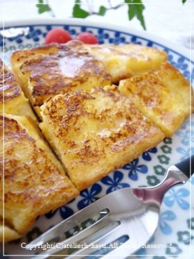 「混ぜて焼くだけ *フレンチトースト」hayu | お菓子・パンのレシピや作り方【corecle*コレクル】