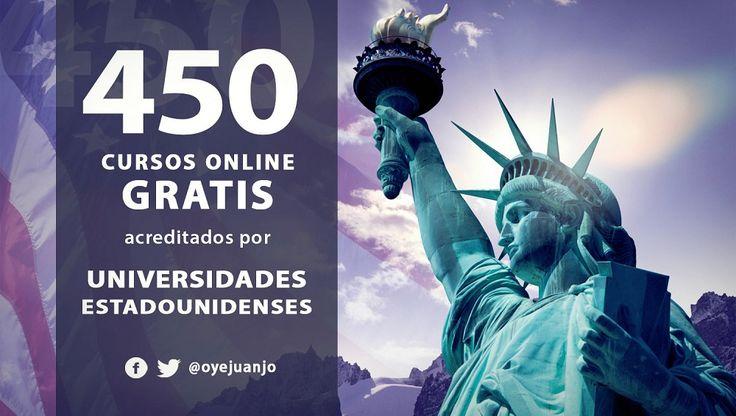 e presentamos una importante agenda de 450 cursos virtuales y gratuitos certificados por las mejores universidades de los Estados Unidos.