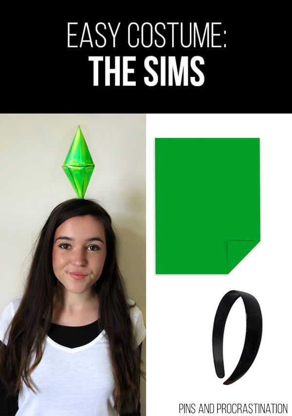 Easy Last Minute DIY Halloween Costume: The Sims babyparents.win