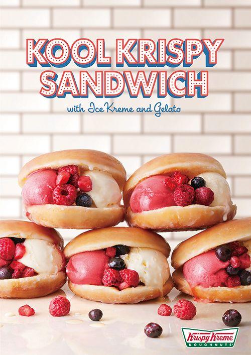 クリスピー・クリームから「クール クリスピー サンド」ジェラートをドーナツでサンドした新商品 | ニュース - ファッションプレス
