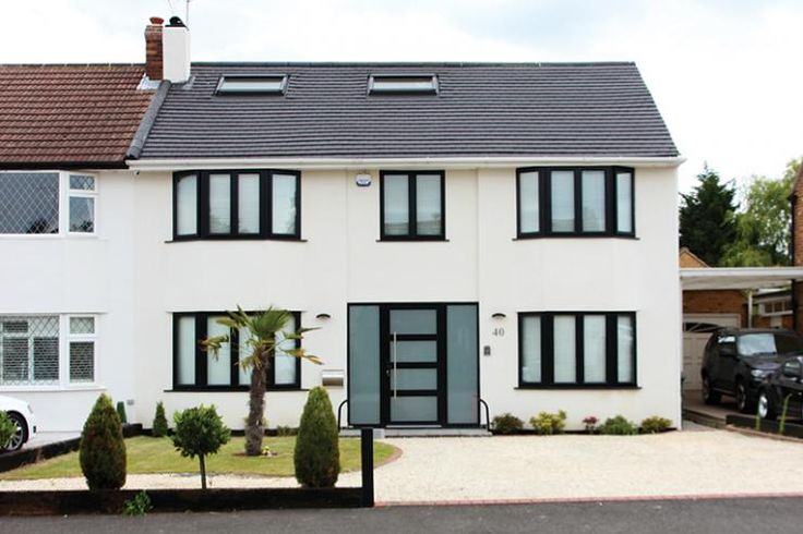 Image Result For House Exteriors With Black Frame Windows