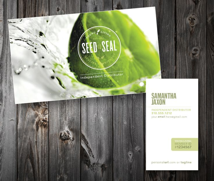 business cards essential oils thick 16pt luxury matte paper lime
