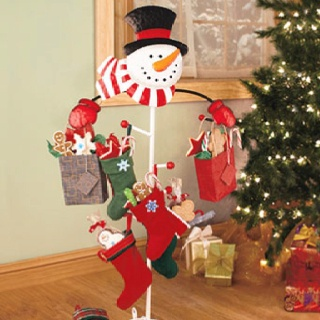 Exceptional Snowman Stocking Holder. Christmas ...