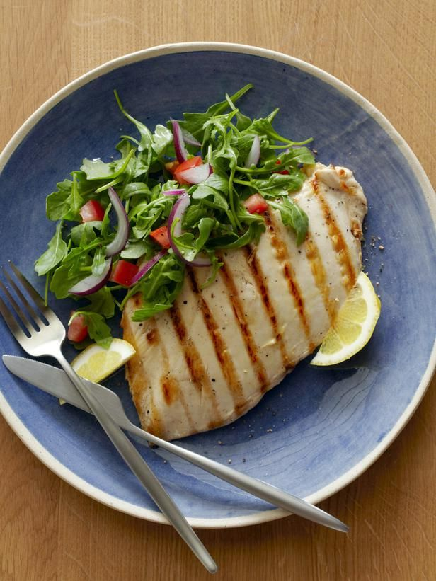 Grilled Chicken Paillard with Lemon and Black Pepper and Arugula ...