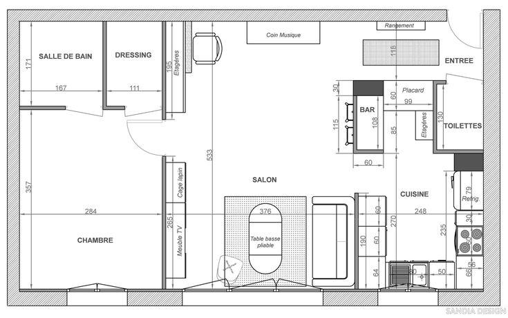 Plan r agencement appartement plans pinterest for Appartement plan
