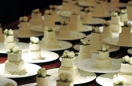 Мини торты свадебные