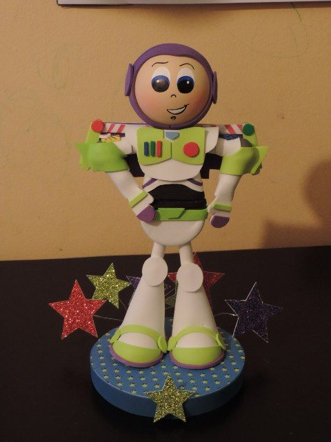 This centerpiece is individually handcrafted from foamy material, the face in hand painted, measures approx 10 1/2 '' tall and the base is circular measures approx 4 x 4'' with stars.