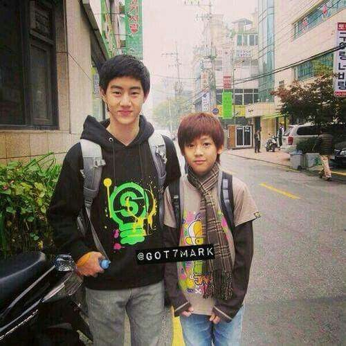 Fetus mark and bambam. You can really see the age difference here omg